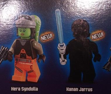 Imágenes de los personajes de Star Wars Rebels en Lego